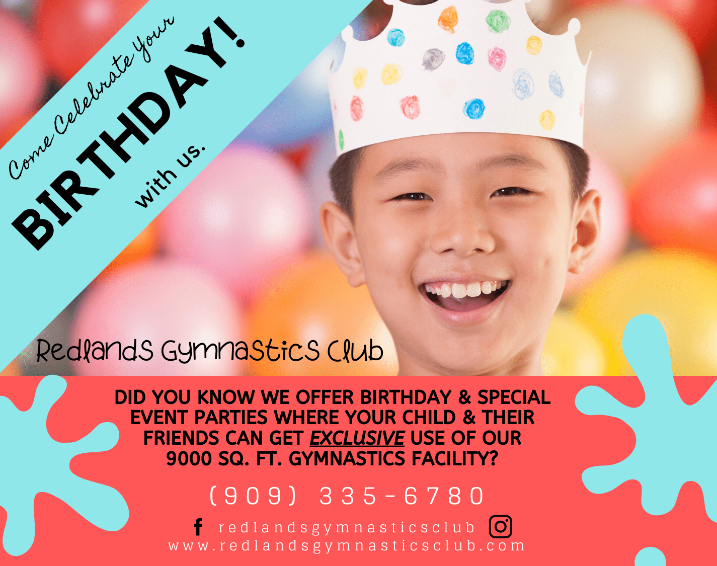 Come Celebrate Your Birthday With Us